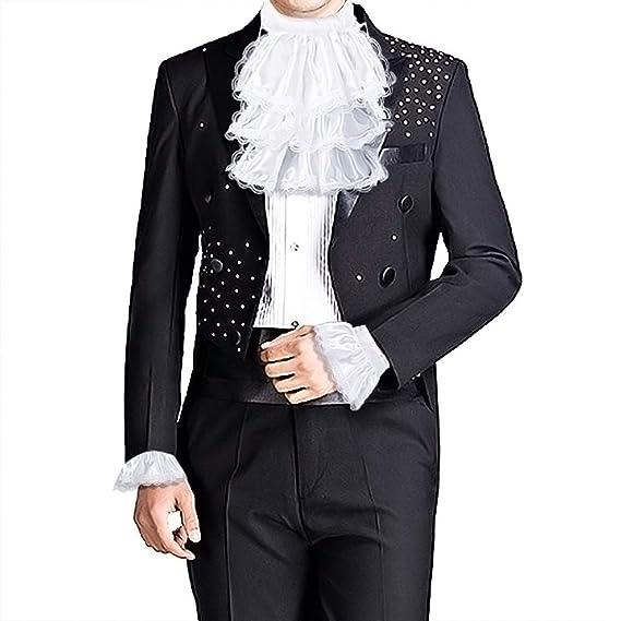dPois 3pcs Disfraz de Victoriano para Niños Adultos Jabot ...