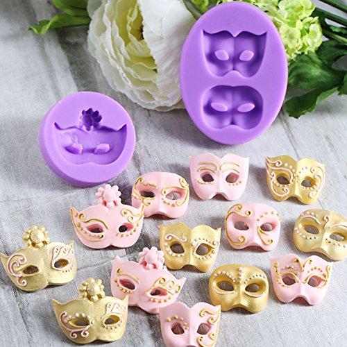 Masquerade Mask Silicone Mold Fondant Mould Cake Decorating Tools Chocolate Gumpaste Molds, Sugarcraft, Kitchen -