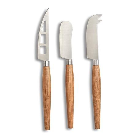 Zeller 25593 – Juego de cuchillos para queso, color natural