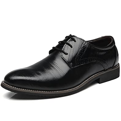 Men's Classic Modern Lace Up Casual Dress Oxfords Shoes