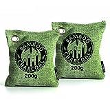 AKLOT Bamboo Charcoal Bag Natural Reusable Air Purifying Freshener Odor Deodorizer 200g for Home Cars Closets Bathrooms Pet