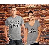 She Said Yes Shirts, Couples Shirts, Bachelorette Party Shirt, Wedding Shirts, Wedding Gift, Bridal Party Shirts, Engagement Shirt