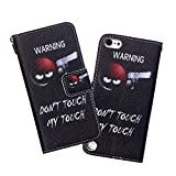 Touch 5/Touch 6 Case, WIITOP Flip for iPod Touch 5/Touch 6 Silicone Magnetic Stand Wallet Phone Cases Card Holder + Free Stylus(Sharpshooter)