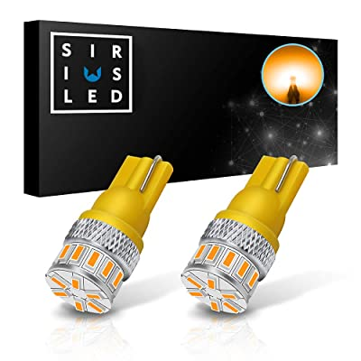 SIRIUSLED Extremely Bright 18W Error Free 3014 Chipset SMD LED Bulbs for Car Interior Lights License Plate Dome Map Side Marker Door Courtesy T10 168 192 194 2825 W5W Amber Yellow Orange: Automotive [5Bkhe0105838]