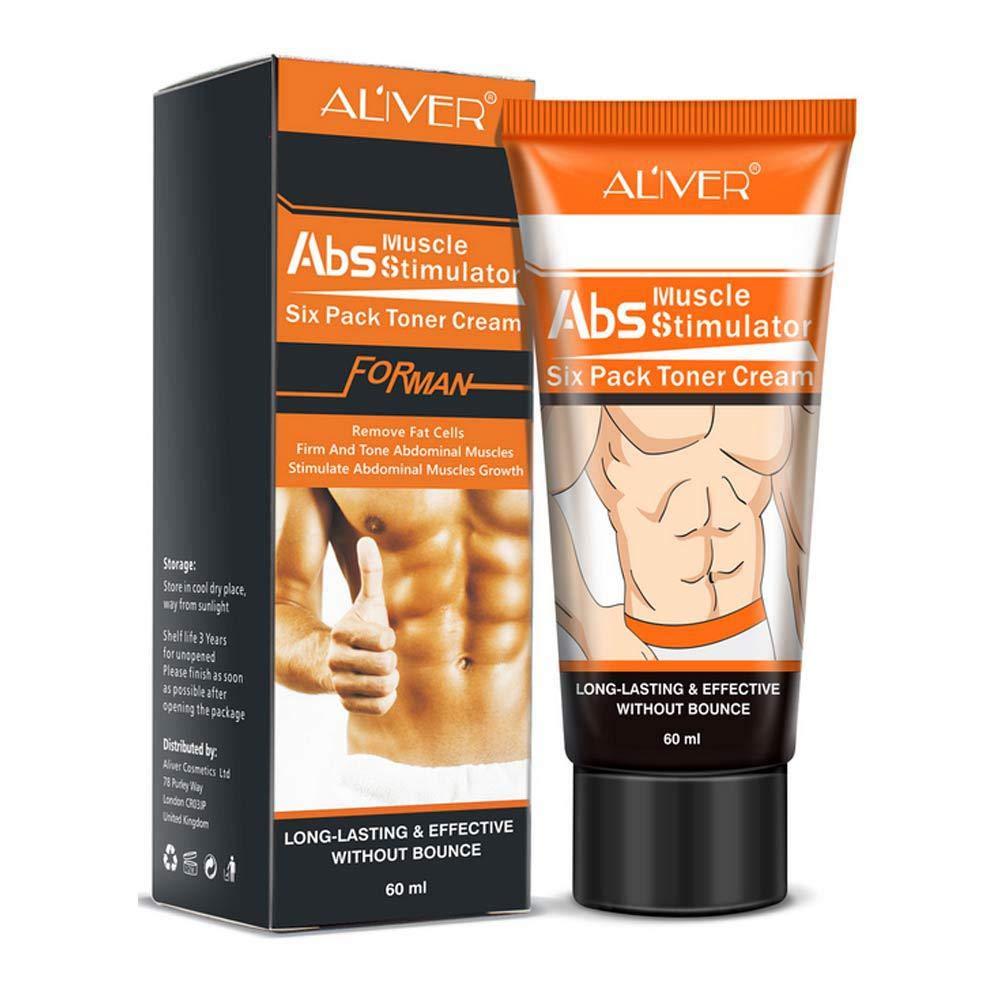 KOBWA Männer Abdominal Cream Fettverbrennung Body Firming Stärkung Bauchmuskel Creme Abs Muskel-Stimulator Entfernen Fettzellen