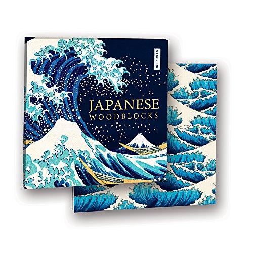 Japonés woodblocks 2019álbum calendario