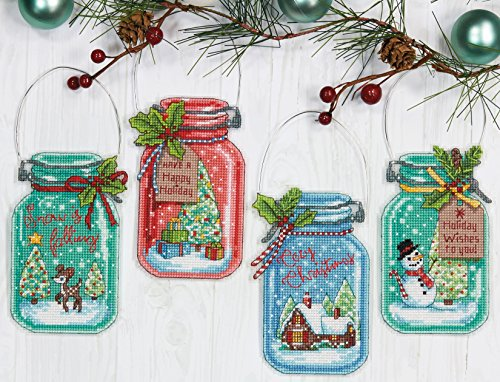 Cross Stitch Christmas Ornament Kits (Dimensions Needlecrafts Christmas Ornament Set, Counted Cross Stitch Kit)