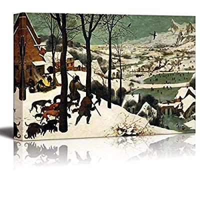 Hunters In The Snow (Winter) by Pieter Bruegel The Elder - Canvas Print