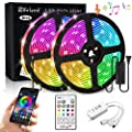 Elfeland Dream Color LED Strip Light with APP 32.8ft/10M 300 LEDs SMD5050 Music Lights Multicolor Waterproof RGB Rope Lights Kit Flexible Led Strip Lighting for Home Kitchen