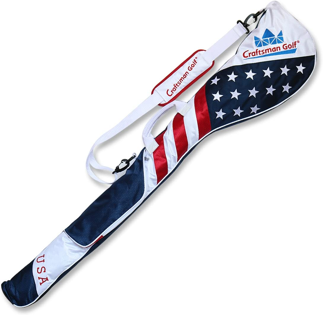 Craftsman Golf Stars and Stripes American USA US Flag Club Case Sunday Bag Red White Blue for 6-7 Clubs 49""