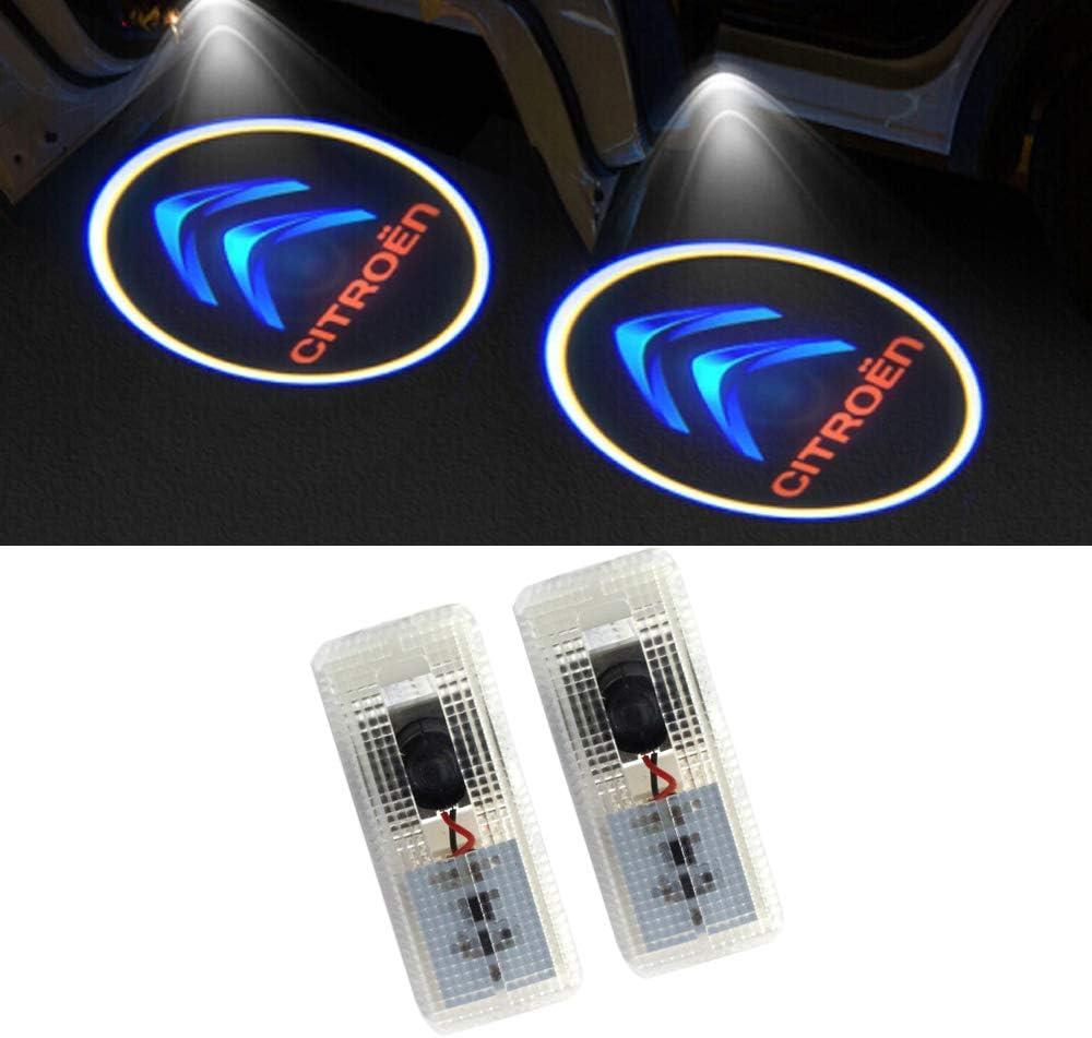 LIKECAR 2 pcs lumi/ères de Porte projecteur de Voiture Car LED Bienvenue Logo Voiture fant/ôme Ombre Bienvenue lumi/ère Benz S-2