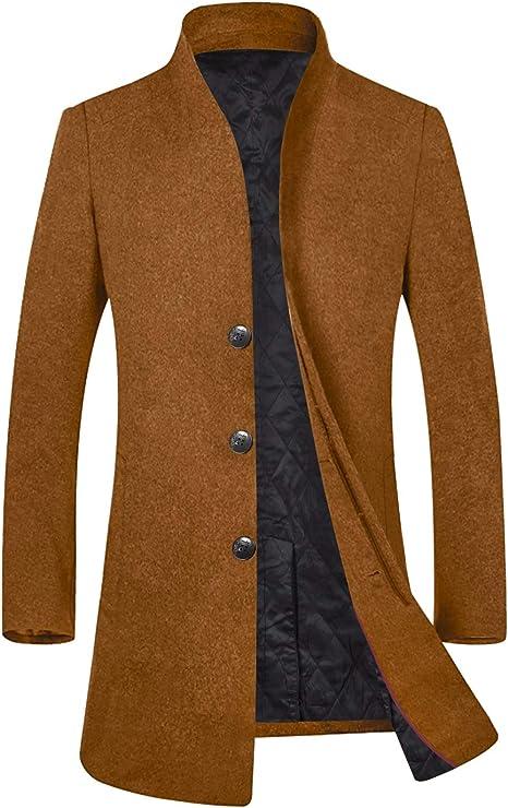 Amazon.com: Abrigo de lana para hombre para el invierno ...