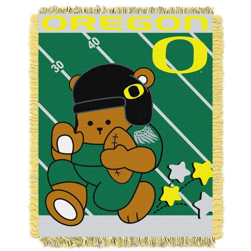 picture of NCAA Oregon Ducks Fullback Woven Jacquard Baby Throw Blanket, 36x46-Inch