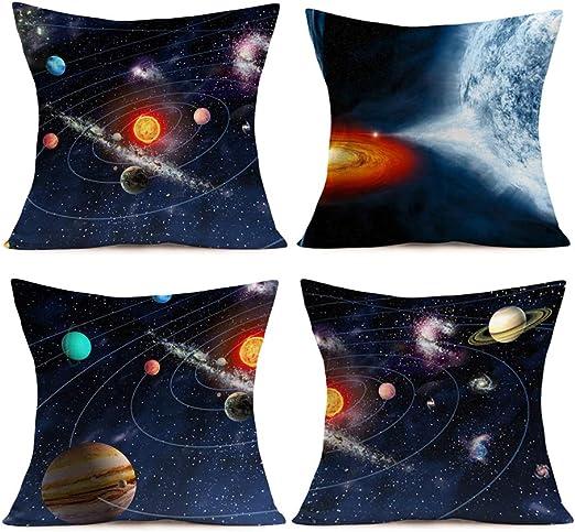 3D starry sky Cotton Linen Pillow Case Sofa Throw Cushion Cover Home Decor Gift