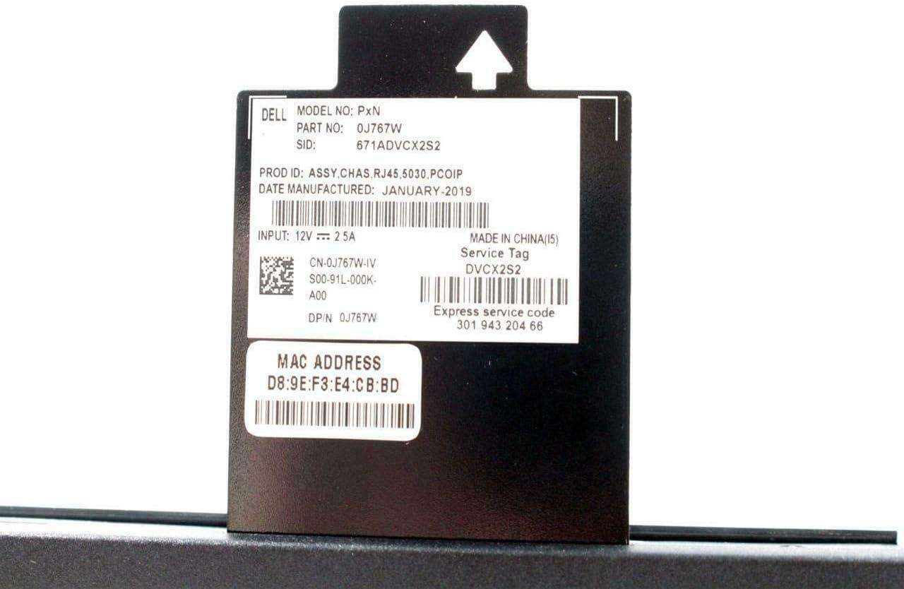 VMware Horizon Ethernet RJ45 J767W CN-0J767W EbidDealz Wyse PxN 5030 Thin Client TERADICHI OS