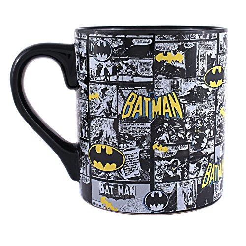 Silver Buffalo BK1034 DC Comics Batman Comic Strip Ceramic Mug, -