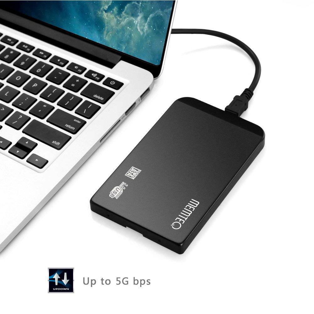MEMTEQ BI155 - Caja de disco duro externo 2.5