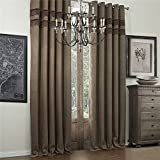IYUEGO Bamboo Fiber Faux Classic Room Darkening Grommet Top Curtain Draperies With Multi Size Custom 50″ W x 102″ L (One Panel) For Sale