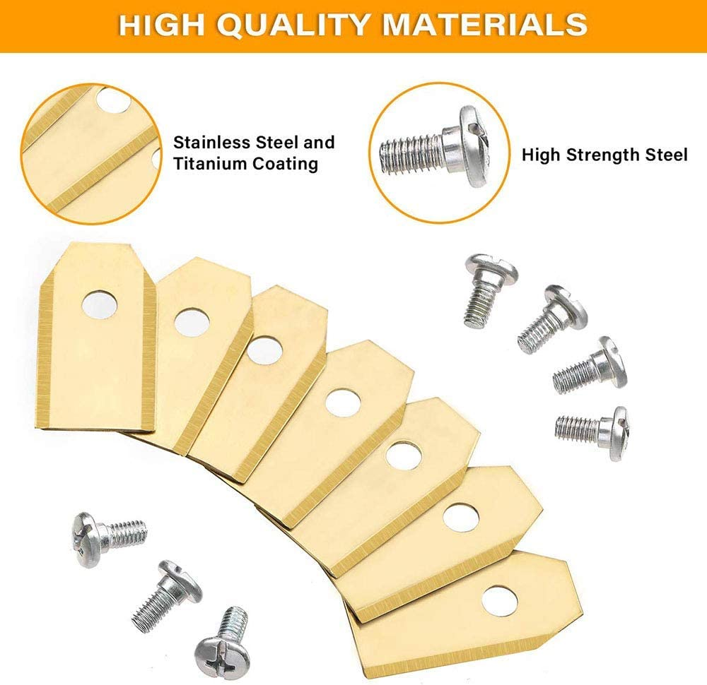 0.75mm Silver 1Easylife 30 Pack Replacement Mower Blades Titanium Replacement Blade for Husqvarna Automower Gardena Lawnmower
