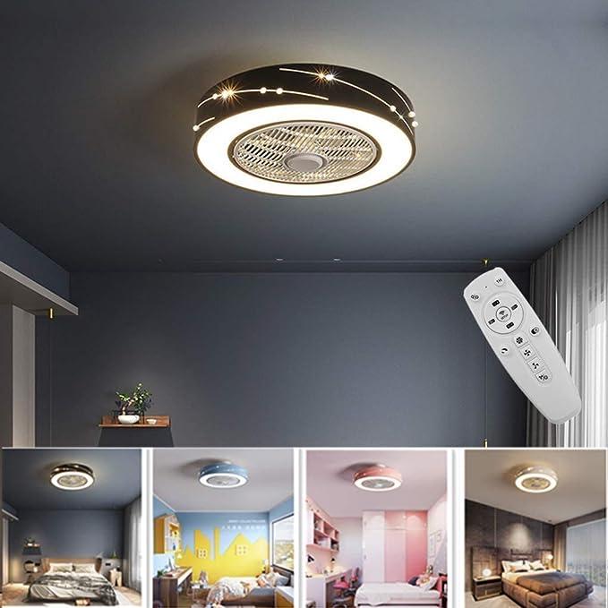 LLDS Ventilador De Techo Con Iluminación, Ventilador De Techo LED ...