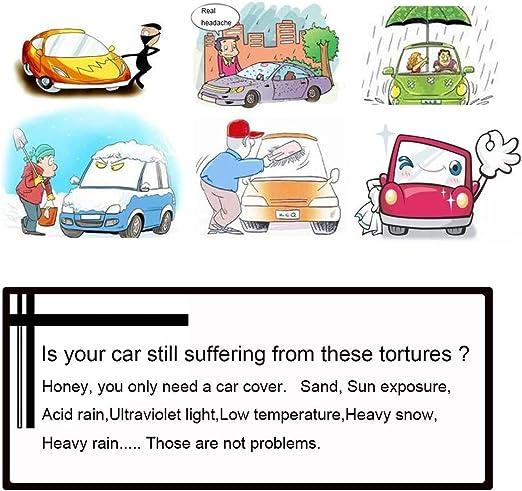 Housses pour Auto Car Cover Compatible avec Audi TT Protection /étanche Car Cover Car B/âche Anti-Pluie UV Solaire Anti-poussi/ère Ext/érieur Int/érieur Couverture Voiture