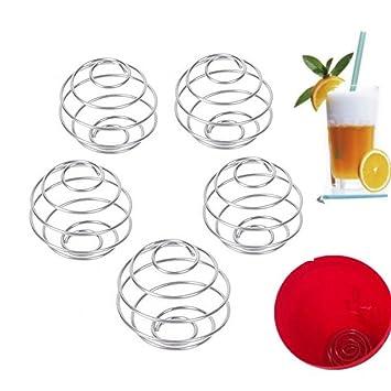 Alambre de acero inoxidable Sus304 aiyoo Shaker bola 5pcs batidos y proteínas batidora, mezcladora de alambre bola para coctelera, bebida botella copa, ...
