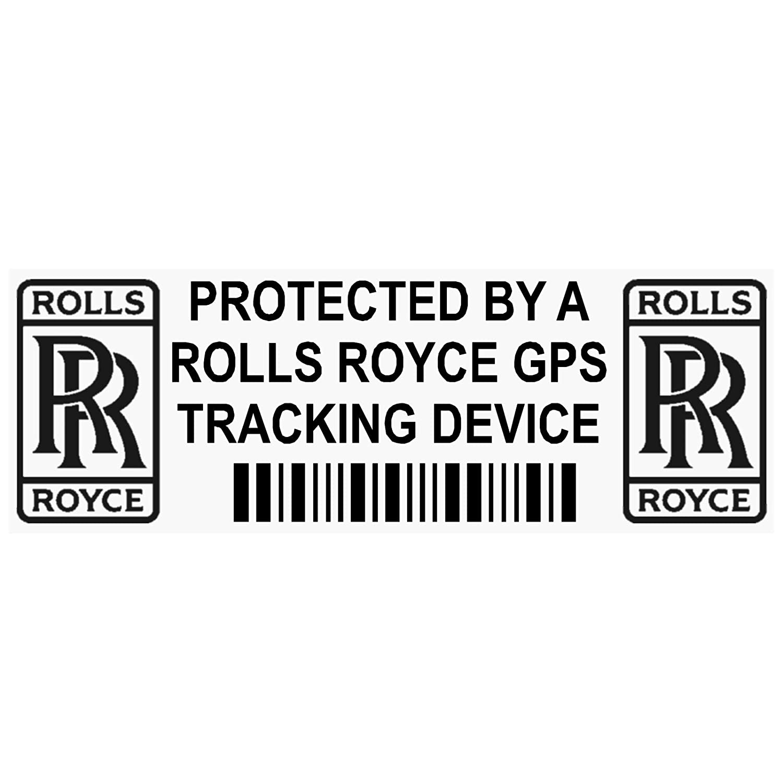 Van Alarm Tracker 5/x pprollsroycegpsblk GPS Schwarz Tracking Ger/ät Sicherheit Fenster Aufkleber 87/x 30/mm-car