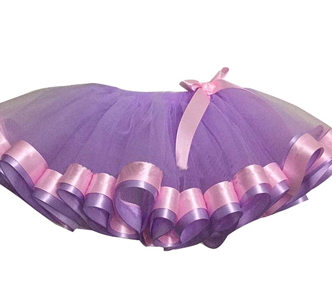 Oncefirst Girls Layered Tiered Princess Dress Up Mini Tutu Tulle Skirt