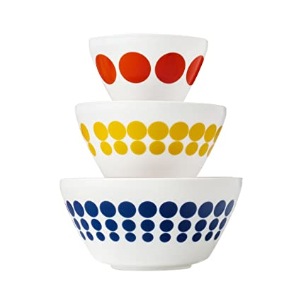 Amazon.com: Pyrex Vintage Charm Spot On 3 Piece Mixing Bowl Set ...