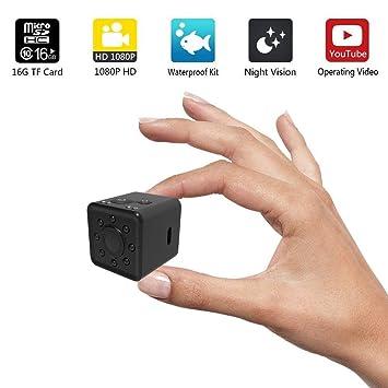 KOBWA Mini Cámara WiFi,Segura Inalambrica Portátil 1080P HD Impermeable Cámara de Vigilancia Detección de Movimiento IR Visión Nocturna Oculta Videocámara, ...