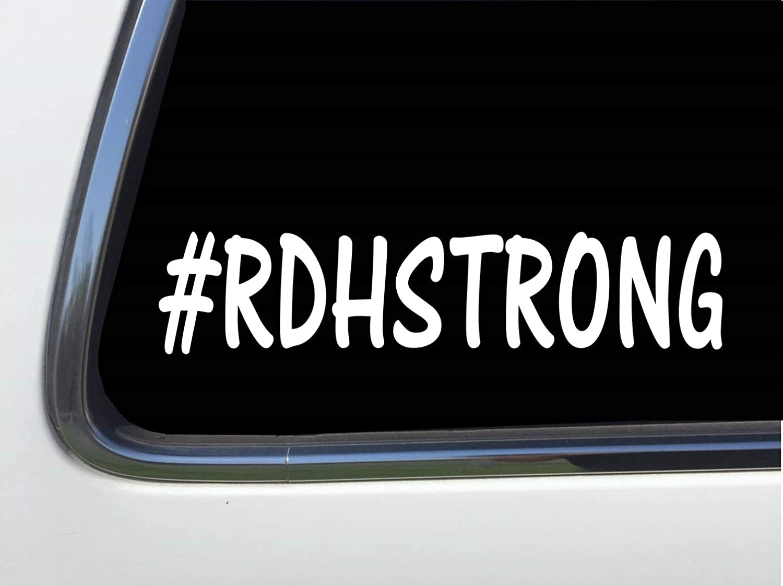 Thatlilcabin #RDHSTRONG 8 vinyl car decal sticker dental hygiene HM1791