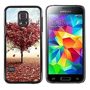 LECELL -- Funda protectora / Cubierta / Piel For Samsung Galaxy S5 Mini, SM-G800, NOT S5 REGULAR! -- Tree LOVE --