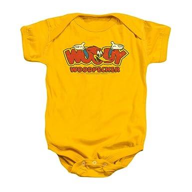 55f549094 Amazon.com: Woody Woodpecker In Logo Baby Onesie: Clothing