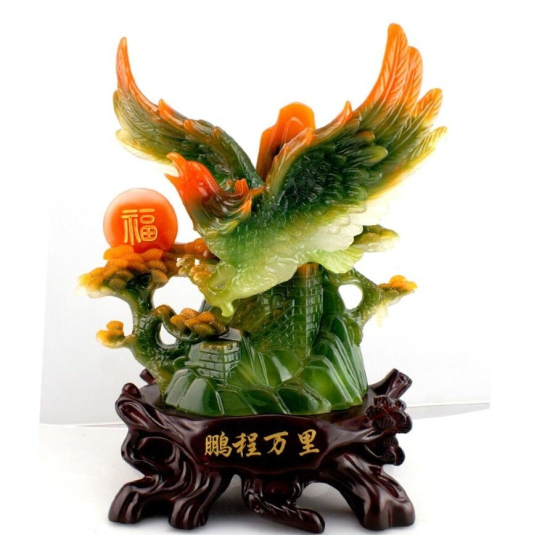 GL&G Lifelike eagle Decoration Home living room office Tabletop Scenes Ornaments High-end Lucky Resin Crafts Business gift,A,292636CM by GAOLIGUO