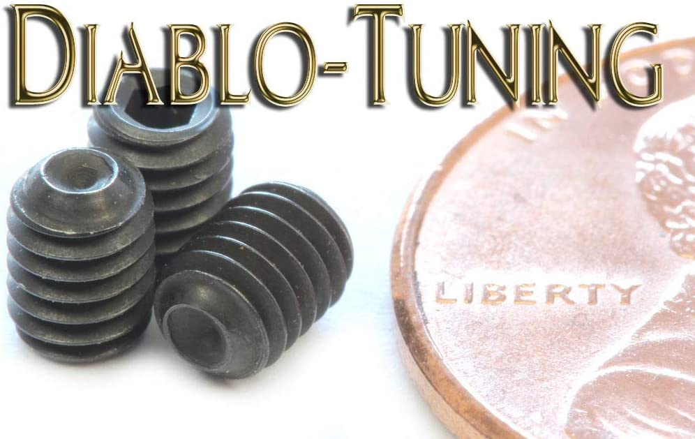Black Alloy Steel Qty 10 #6-40 x 3//16 Socket Set//GRUB Screws Cup Point