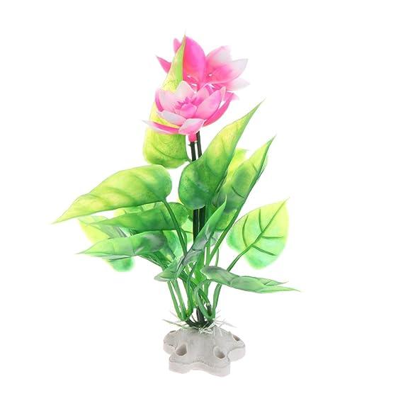 P/úrpura CADANIA 1 Pieza Simulaci/ón Lotus Plantas Acu/áticas Artificiales Tanque de Peces Ornamentos de Acuario Flor CT59
