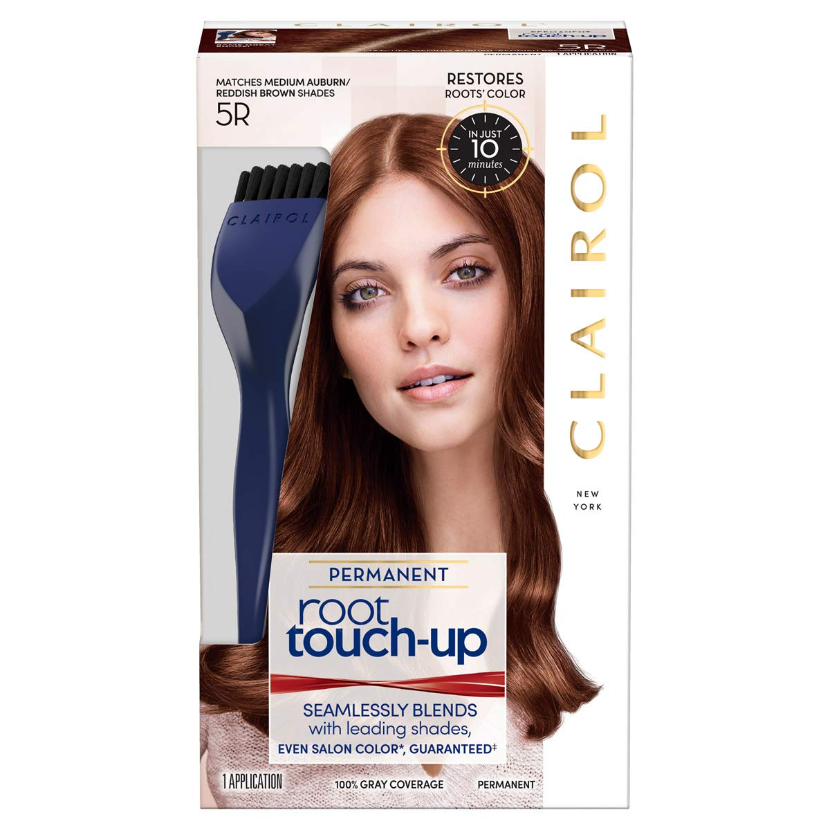 Clairol Nice N Easy Root Touch Up, Medium Auburn Reddish Brown 5r 10070018000030