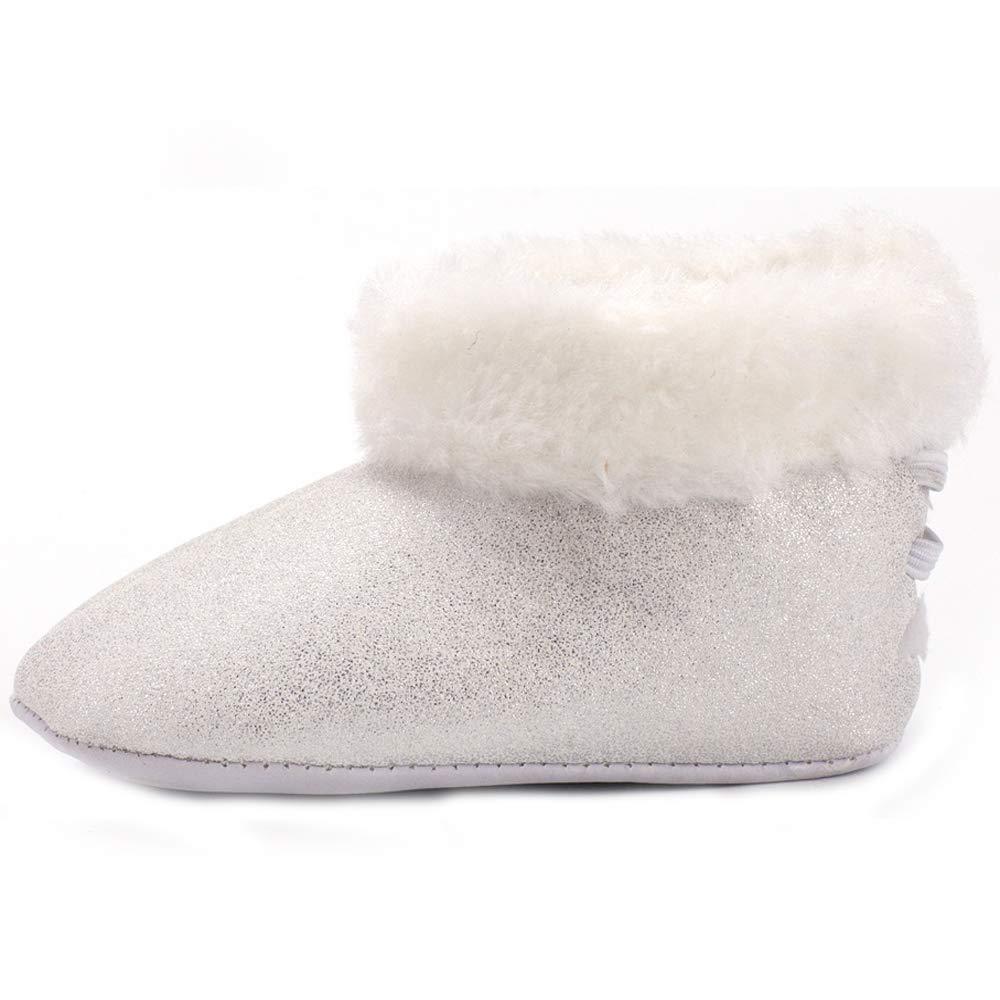 Baby Premium Soft Sole Bow Anti-Slip Warm Winter Infant Prewalker Toddler Snow Boots,