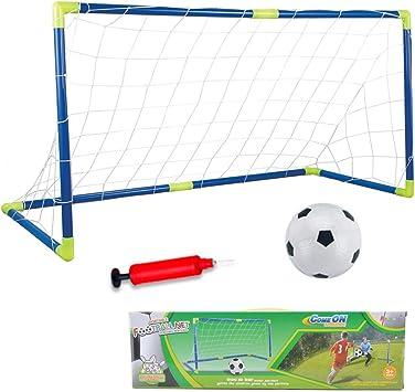 AnJanLe Juguete de Mini portería de fútbol para niños, jardín, 120 ...