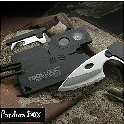 Tool Logic CC1SB Multi Tools Credit Card Companion with 9 Tools, Black (2 Packs) from Tool Logic