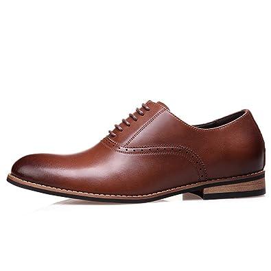Réduction À La Mode Jeu Footlocker Chaussures de mariage automne à bout pointu à lacets marron Business homme Vente Recherche réal Dernière Ligne hWIS4G