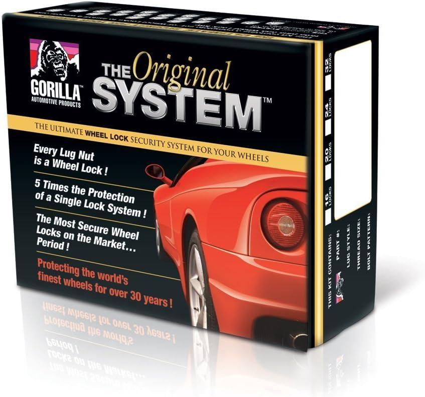 Gorilla Automotive 71603N The System Acorn Wheel Locks 14mm X 2.00 Thread Size -for 5 Lug Wheels