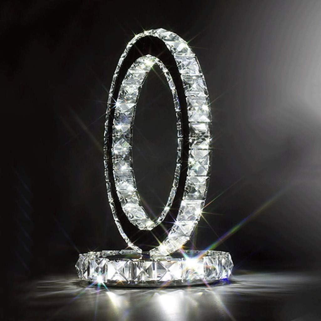 Estilo moderno de la lámpara de cabecera de la lámpara de tabla del acero inoxidable de la manera Lámpara cristalina de moda cristalina de moda del dormitorio de la sala de estar simple del dor