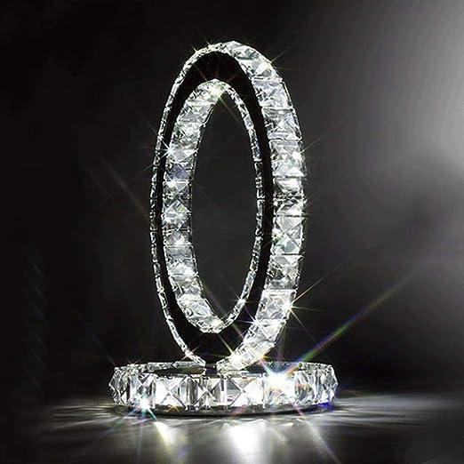 Mode en acier inoxydable lampe en lampe de table en lampe de chevet style moderne Créative chambre simple salon à la mode cristal lampe à cristaux