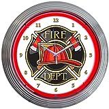 Cheap Neonetics Fire Department Neon Wall Clock, 15-Inch
