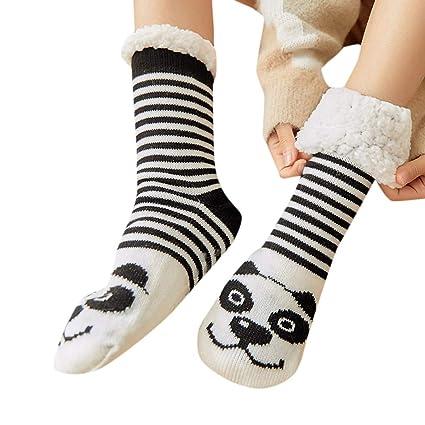 18fd34491c2e Lywey Women Girls Print Cartoon Penguin Warm Winter Non-Slip Mid Tube Cute  Socks for