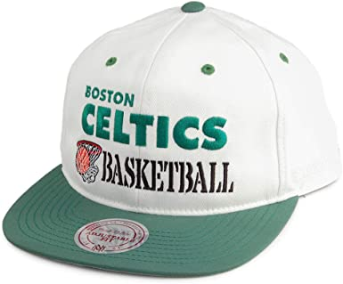 Mitchell & Ness Gorra Snapback Dunk Boston Celtics Blanco Roto ...