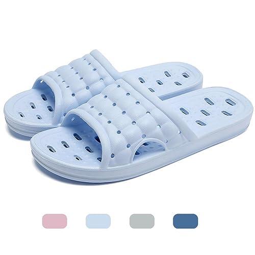 Mianshe Slip On Pantofole Doccia Antiscivolo Sandali House Schiume Mule suola scarpe Piscina Bagno Slide per adulti verde EU43-44 4CZ206e