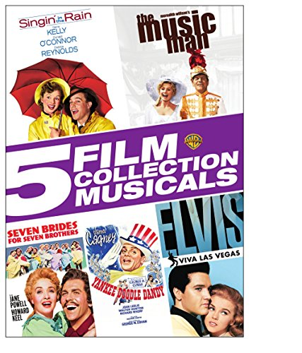 Music : Singin' in the Rain / The Music Man / Seven Brides For Seven Brothers / Yankee Doodle Dandy / Elvis-Viva Las Vegas (5 Film Collection Musicals)