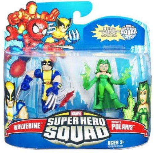 - Marvel Superhero Squad Series 21 Mini 3 Inch Figure 2Pack Wolverine Polaris